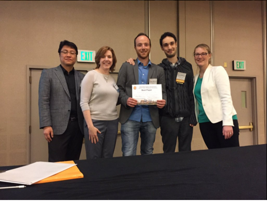 Best Paper Award at Haptics Symposium 2016!!!