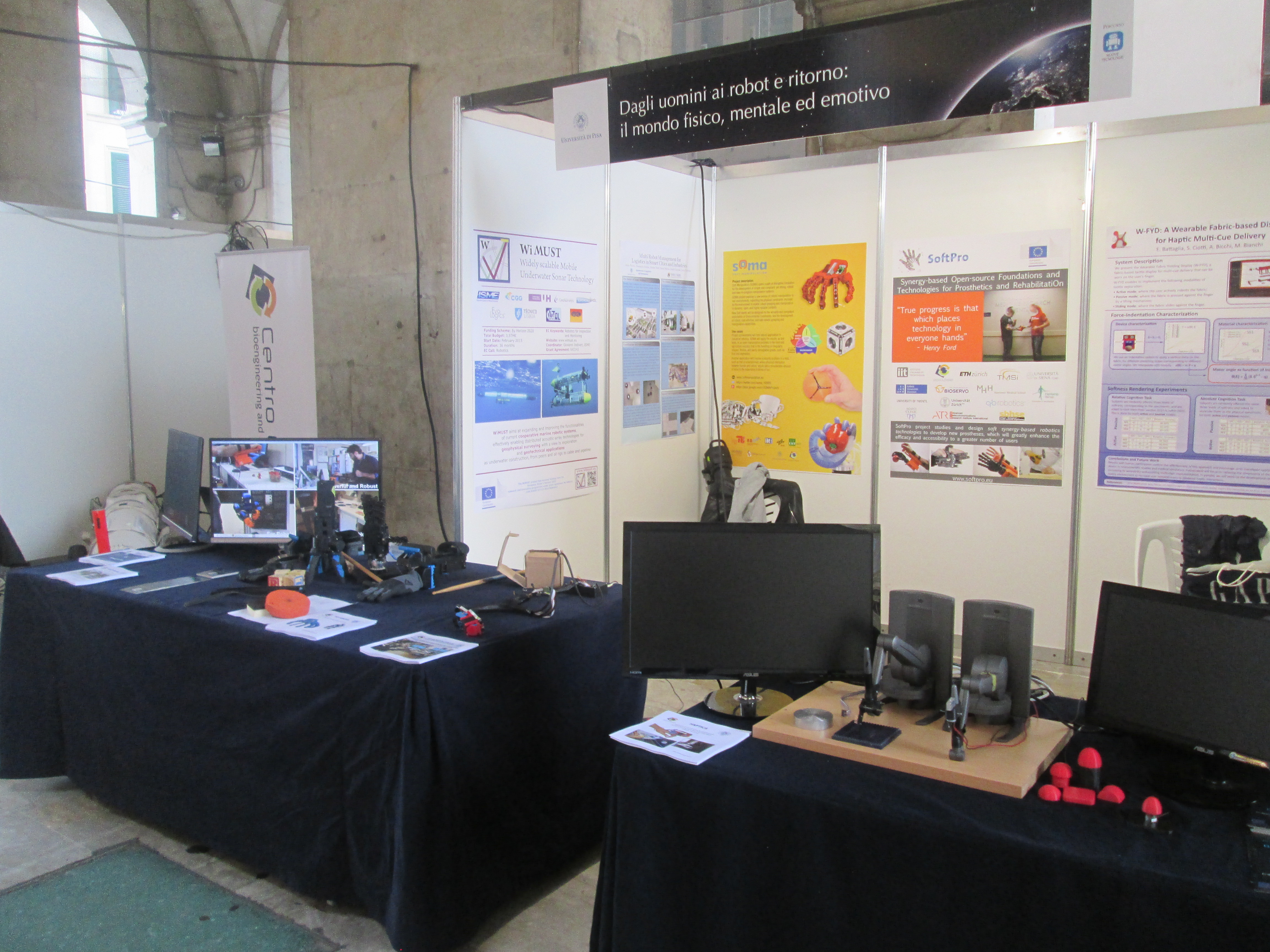 SoftHands @BRIGHT2016, the Researchers Night in Italy, Sept 30 2016